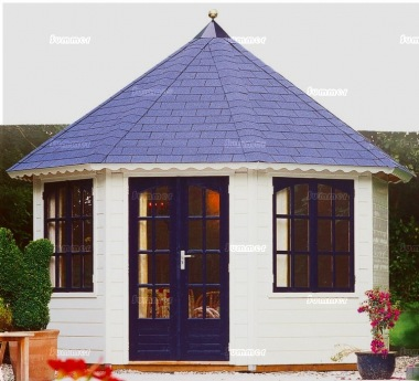 Double Door 45mm Octagonal Summerhouse 371 - Double Glazed
