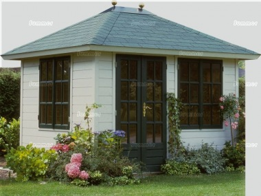 Hipped Roof Double Door Log Cabin 305 - Bespoke