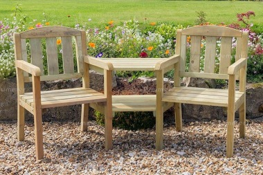 Love Seat 830 - 2 Angled Trays, Pressure Treated