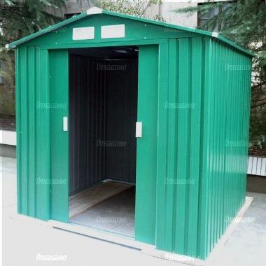 Metal Shed 380 Apex Roof Double Door Galvanized Steel