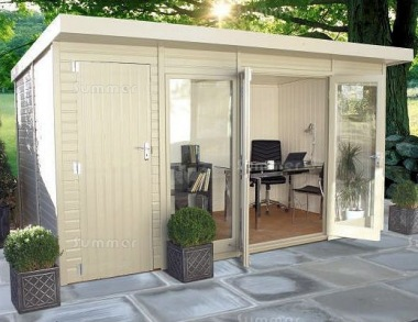 Pent Summerhouse 537 - Two Rooms, Double Glazed