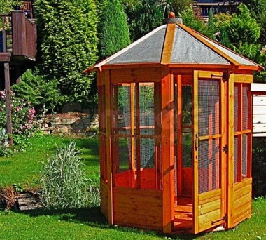 Shiplap Octagonal Aviary 20 - T and G Floor