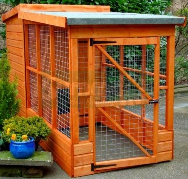 Shiplap Pent Dog Kennel and Run 205