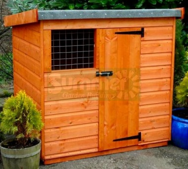 Shiplap Pent Roof Dog Kennel 27