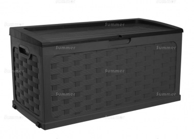 Plastic Storage Box 447 - High Density Polypropylene, Rattan Style