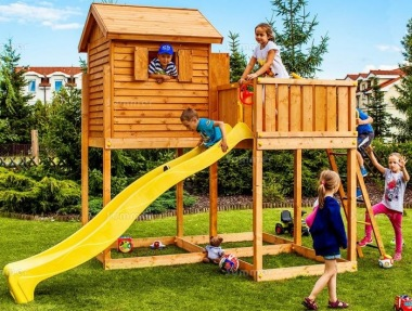 Platform Play Centre 375 - 4ft 9in High Platform With Slide