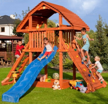 Tower Play Centre 365 - With Slide and Climbing Ramp