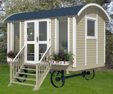 Shepherd Hut 977 - Steps, Double Glazed, Window Boxes