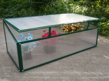 Green Aluminium Cold Frame 315 - Polycarbonate