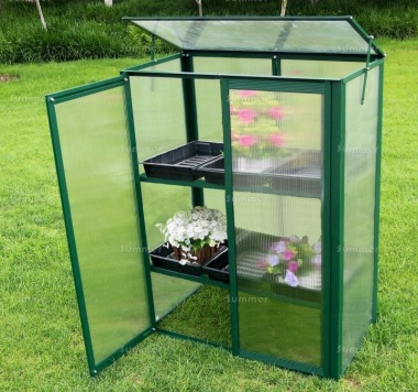 Growhouse 381 - Polycarbonate, Silver or Green Finish