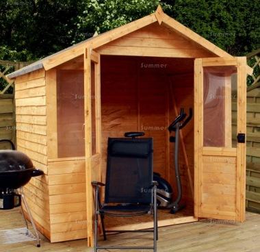 Apex Summerhouse 241 - Rustic Cladding, Double Door