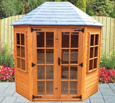 Georgian Octagonal Summerhouse 154 - Slate Effect Roof