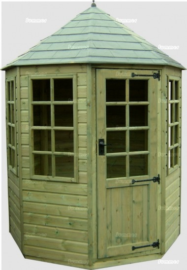 Georgian Octagonal Summerhouse 229 - Slate Effect Roof