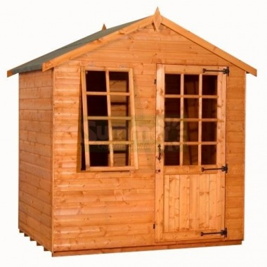 Georgian Apex Summerhouse 324 - Single Door