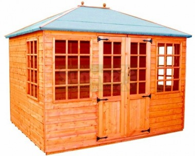 Hipped Summerhouse 325 - Georgian, Double Door
