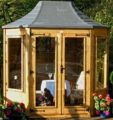 Octagonal Summerhouse 167 - Slate Effect Roof