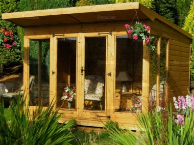 Pent Summerhouse 264 - Large Panes, Double Door