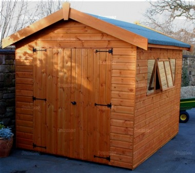 Shiplap Double Door Apex Shed 571 - Extra Tall Workshop