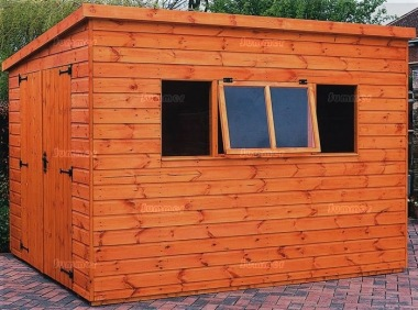 Shiplap Pent Shed 572 - Extra Tall Double Door Workshop