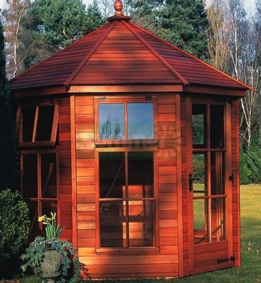 Georgian Octagonal Summerhouse 96 - Low Level Glazing