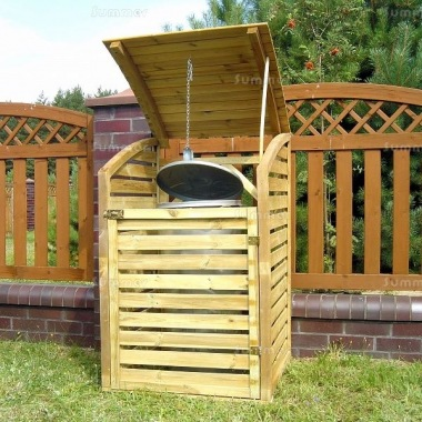 Wheelie Bin Store 186 - Pressure Treated