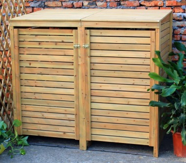 Wheelie Bin Store 149 - Wooden Slatted