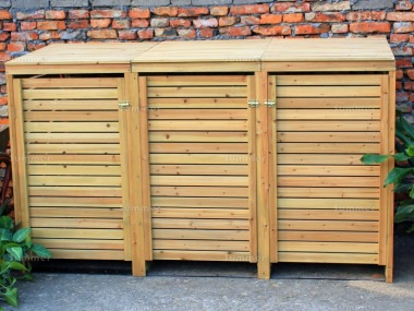 Wheelie Bin Store 151 - Wooden Slatted