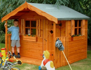 Childrens Playhouse 46 - Shiplap, Shutters, Window Boxes