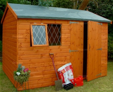 Side Door Apex Shed 541 - Shiplap, Double Door