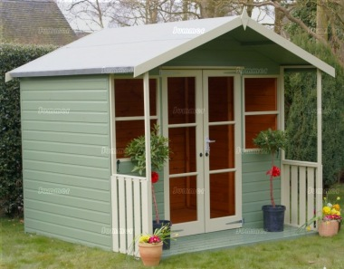 Apex Summerhouse 420 - Painted, Shiplap, Double Door
