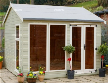 Apex Summerhouse 129 - Low Level Glazing, Double Door