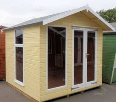 Apex Summerhouse 131 - Low Level Glazing, Double Door