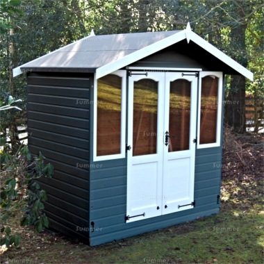 Apex Summerhouse 421 - Painted, Arches, Double Door