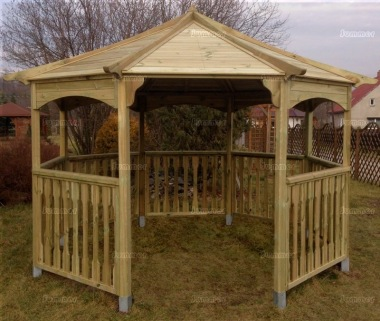 Gazebo 427 - Octagonal, Pressure Treated, Slatted Roof