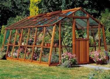 Large Wooden Greenhouse 72 Toughened Glass