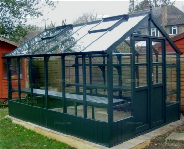 Painted Wooden Greenhouse 216 - Thermowood, Toughened Glass