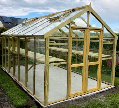 Pressure Treated Greenhouse 506 - Toughened Glass