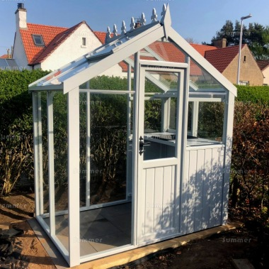 Painted Wooden Greenhouse 516 - Toughened Glass