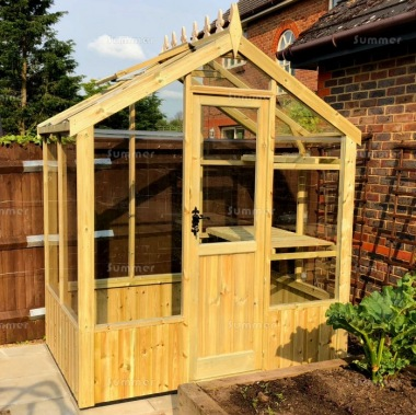 Pressure Treated Greenhouse 530 - Toughened Glass