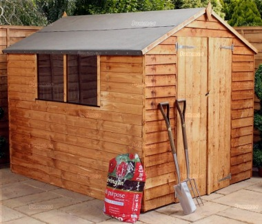 Overlap Double Door Apex Shed 269