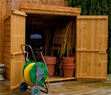Overlap Pent Roof Double Door Small Storage Shed 276