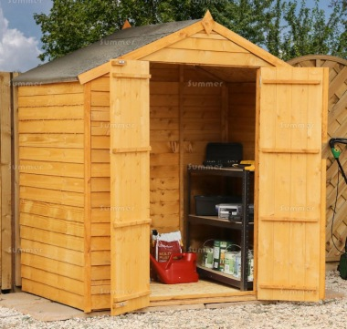 Overlap Apex Storage Shed 320 - Double Door