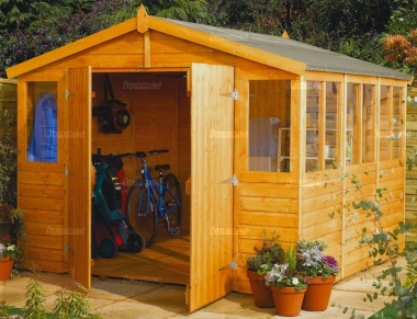 Shiplap Double Door Apex Shed 331