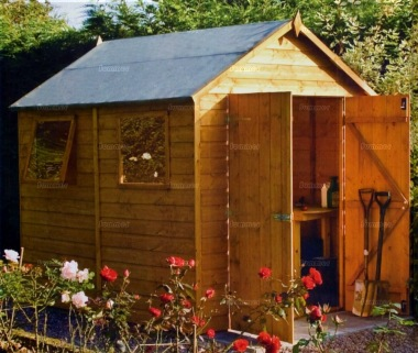 Shiplap Double Door Apex Shed 333 - T and G Floor