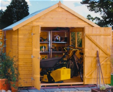 Shiplap Double Door Apex Shed 334 - T and G Floor