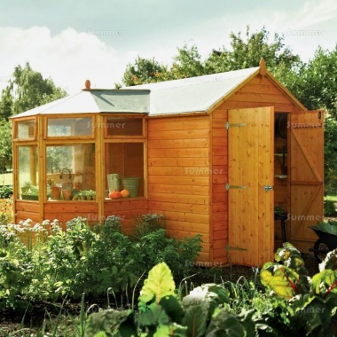 Corner Potting Shed 339 – Shiplap, Part Glazed Roof