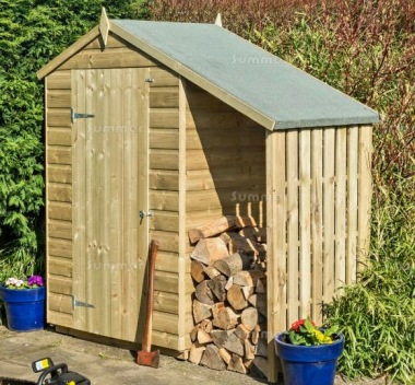 Apex Shiplap Storage Shed 342 - With Lean-To