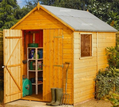 Shiplap Double Door Apex Shed 35