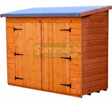 Shiplap Double Door Pent Roof Small Storage Shed 069