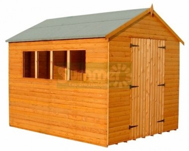 Loglap Double Door Apex Shed 089 - All T and G Workshop